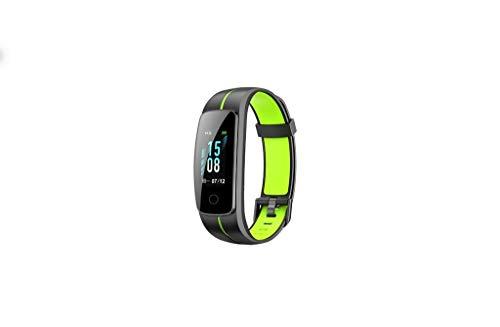 WAOTIER Fitnesstracker Sportmodus Fitnessarmband Smartwatch Whatsapp FB Anruf Benachrichtigung Pulsmesser Für IOS Android Schrittzähler Fernsteurung Aktivitätsarmband Kalorienzähler (Schwarz Grün)