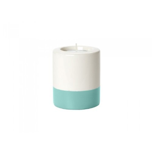 Present Time Dip It Ceramic Tea Light Holder, 8.5cm, Cream