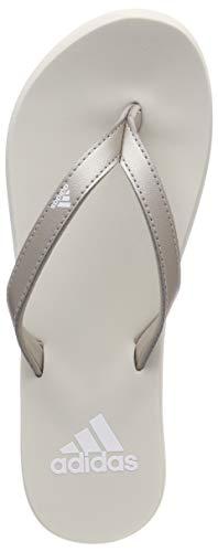 adidas Eezay Flip Flop, Scarpe da Spiaggia e Piscina Donna, Grigio Platinum Met./Ftwr Raw White, 37 EU
