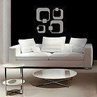 Retro Quadrate Wandkunst Aufkleber Schlafzimmer Wohnzimmer Lounge Funky Design Wandaufkleber - Lila Glanz