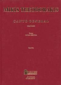 Preisvergleich Produktbild Canto General Kontra-Alt, Bass-Bariton, gemischter Chor und 15 Instrumente Klavierauszug : gebundene Ausgabe
