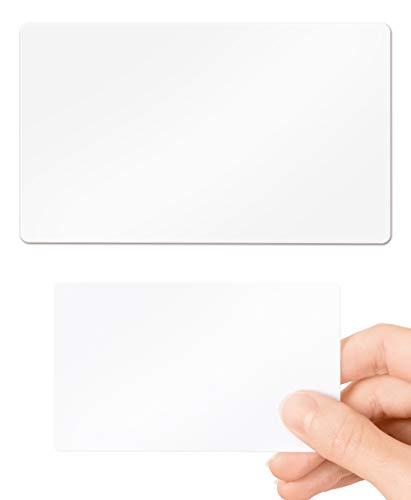Leere weiße PVC-Karten - 10 Stück von Lanyards Tomorrow 760 Micron Standard CR80 Kreditkarten-Größe 86 x 54 mm - bedruckbar ideal zum Überdrucken in jedem Desktop Ausweis-Drucker