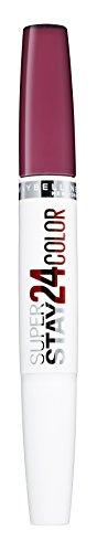 Maybelline Superstay 24H Lippenstift Nr. 450 Fire Garnet, farbintensiver, flüssiger Lippenstift mit bis zu 24 Stunden Halt, patentierte Micro-Flex-Formel, mit integriertem Pflegebalsam, 5 g