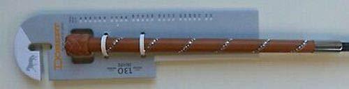 Döbert Dressurgerte mit Ledergriff Lederschlag eine Reihe Strass 120 cm Gerte Hellbraun