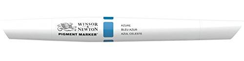 Winsor & Newton 202054 Pigment Marker (mit hochwertigen, lichtbeständigen Künstlerpigmenten für Farbtiefe und hohe Leuchtkraf - für Grafikdesings und Illustrationen) meerblau