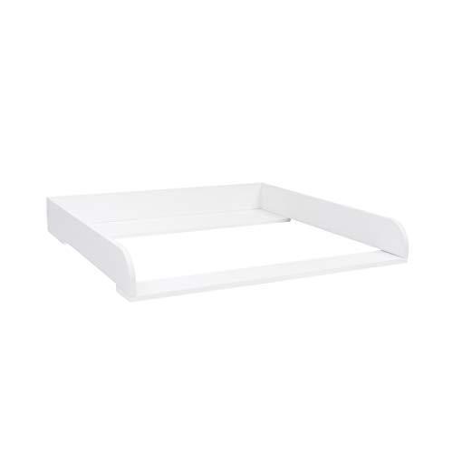 Puckdaddy - Wickelaufsatz Rund, für alle IKEA Hemnes Kommoden, weiß, ohne Kommode