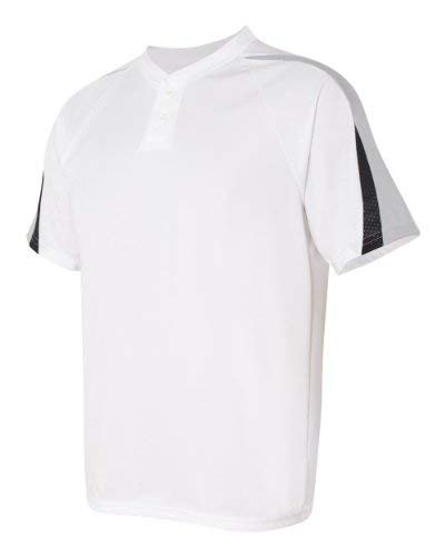 Power-baseball-jersey (Augusta Sportswear Men'S Power Plus Baseball Jersey L White/Silver Grey/Black)