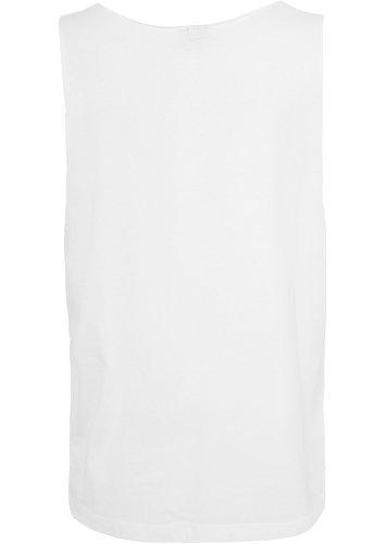 Urban Classics Herren Sport Top Open Edge Loose Tank Weiß (White 00220)