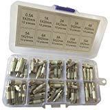 KOLACEN Quick Fast-Blow Keramik Tube Sicherung 5 x 20 mm Sortiert Kit 0,5 Amp 1 Amp 2 Amp 3 Amp 4 5 6 Amp 8 Amp 10 Amp 15 Amp (100 Stück) 5/5/3 Amps