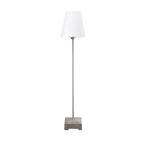 Konstsmide Lucca 450-300 Lounge Leuchte/Wegeleuchte B: 27,5cm T: 27,5cm H: 151cm / 1x60W / IP44 / lackiertes Aluminium / grau (Kandelaber-leuchte)