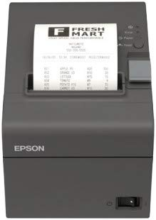 Epson Stampante Termica Pos TM-T20II (002) USB + Seriale Scommesse Comande Scontrini 80x80, Antracite