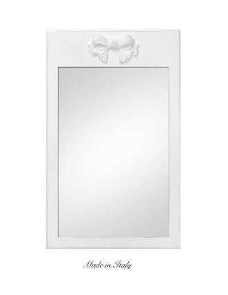Specchiera da muro di legno con fiocco centrale stile vintage disponibile in diverse rifiniture L'ARTE DI NACCHI SP.132/SH