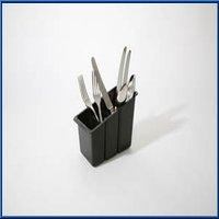 Delfinware Plastic Cutlery Basket, Black