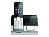 Telekom Sinus A 806 Schnurlostelefon mit AB, TFT-Grafikdisplay und Bluetooth (Farbe: schwarz, 500 Telefonbucheinträge, 60 Min Speicherdauer AB in HD, TFT-Farb-Grafikdisplay, Bluetooth für Headset und GSM Mobilteile)