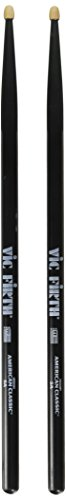 Vic Firth American Classic Series Drumsticks - 5AB - American Hickory - Wood Tip - Black