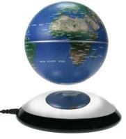 MagicFloater FU 203: Magnetschwebeglobus der neuen Generation. Permanent langsam rotierender und frei schwebender Globus. Schwebehöbe ca. 30 mm. (Halbe Umdrehung)