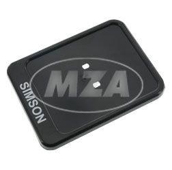 Kennzeichenhalterung, schwarz - Aufdruck: SIMSON - 167x122mm - Unterlage f. Versicherungskennzeichen/ Verstärkung