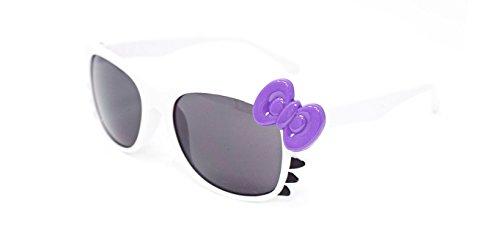 Ultra® weiss mit lila Schleife niedlich Multi Color Kostüm spielen Cos spielen 3D-Brille für Kinder Kinder Objektiv Hase Herz Bogen Frames