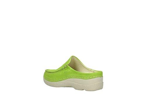 Wolky 620175, Zoccoli donna Verde