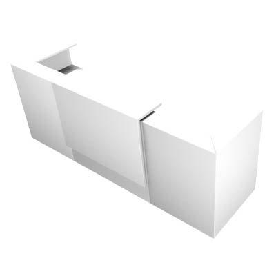 Empfangstheke weiß 285,0 x 88,0 x 113,0 cm