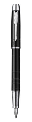 Parker S0949660 - Penna stilografica IM Premium, fusto laccato nero C., tratto F, inchiostro blu