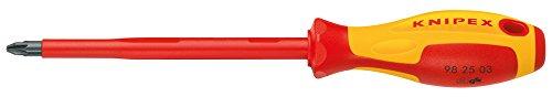 KNIPEX 98 25 01 Schraubendreher für Kreuzschlitzschrauben Pozidriv 187 mm