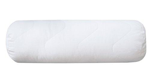 Bett Rollen (ZOLLNER® hochwertige kochfeste Nackenrolle / Nackenstützkissen / Kissen 15x40 cm, Füllgewicht: ca. 210 g, mit Reißverschluss, direkt vom Hotelwäschespezialisten, Serie