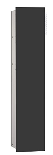 emco asis WC-Modul 2.0,1-türig, links UP, 811mm,ohne Einbaurahmen,Alu/Schwarz