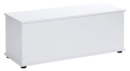 Ts-ideen cassapanca da ingresso bianca con ampio comparto interno e coperchio a chiusura rallentata