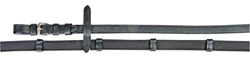 HKM 4000315237333 Zügel mit Anti Rutsch Auflage & Stoppern9171 schwarz/silberSt