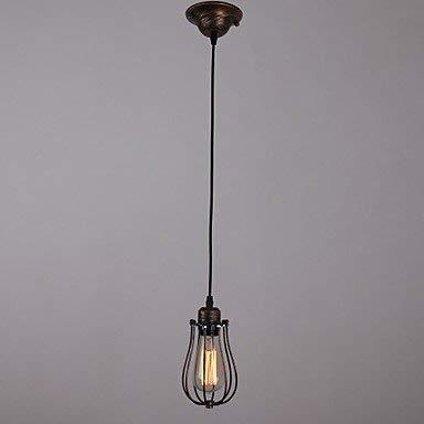 1 Light Mini Anhänger Lampe (BinLZ Chandelier Moderne Kronleuchter Deckenleuchten Anhänger Country Style Mini Lights Lampen 1 Retro 3C Ce FCC Rohs für Wohnzimmer Schlafzimmer, 220-240 v)