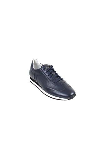 Baskets Gt3 En Cuir Perforé Navy
