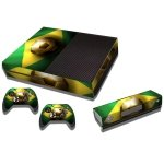 RISHIL WORLD Brazil Flag Pattern Decal Stickers for Xbox One Game Console