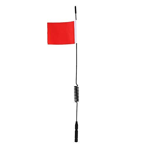 Dilwe Antenne Dekoration Flagge, RC Klettern Auto Antenne L29cm Simulation Signalleitung Mit Flagge Für TRX4 SCX10 9004 Modell Auto(rot)