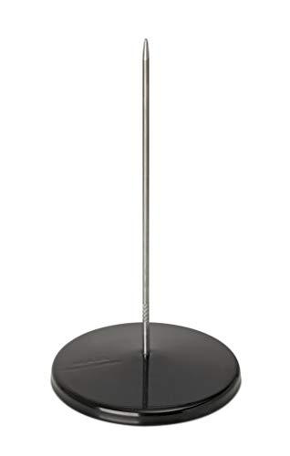 Maul Zettelspießer, Bonspieß, Rostfreies Edelstahl, pulverbeschichtetes Metall, Ø 8, 5 cm x 17 cm, Schwarz 8 Spieße