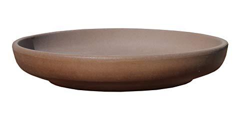 Hentschke Keramik Brunnen-Schale Pflanzschale absolut Wasser-dicht frostfest Ø 40 x 7,5 cm braun 038.040.80 ohne Boden-Loch