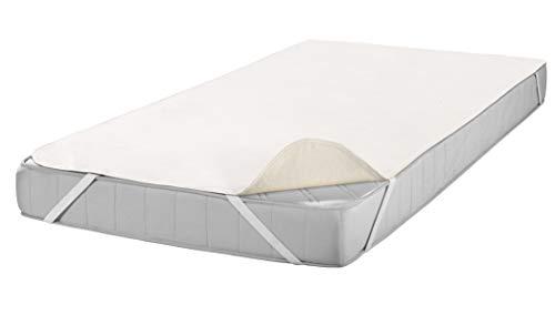 SETEX Molton Matratzenschutz, 160 x 200 cm, Eckgummis, 100 % Baumwolle, Basic, Naturfarben 1607160200001001