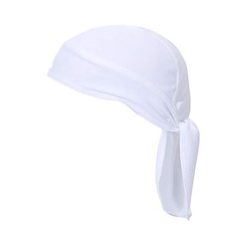 X-Labor Unisex Sonnenschutz Cap mit Schirm Nackenschutz Schnell Trockend Bandana Kopftuch Fahrrad Radsport Kopfbedeckung Sommercap weiß