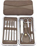 Maketop-Multi--Functional-9-pcs-Professional-Stainless-Steel-Manicure-Set-(Orange/-Silvery)