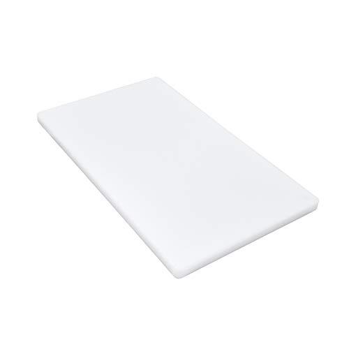 Gastro Spirit - Großes Schneidebrett weiß Kunststoff - ca. 60 x 40 x 2 cm, HACCP, Gastro-Qualität