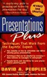 Presentations Plus: David Peoples' Proven Techniques by David A. Peoples (1997-01-07)