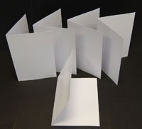 A5 Folding to A6 Photo Gloss Blank Greeting Cards For Inkjet Printers 240gsm 100 Cards
