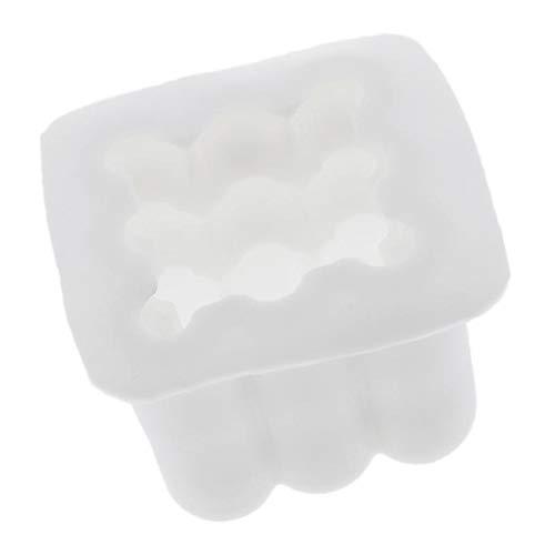 Hellery Molde De Vela Cube - Molde De Silicona Cilíndrica para Jabón...