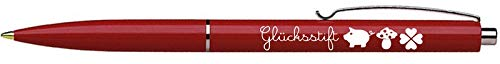 Glücksstift Kugelschreiber rot blaue Schriftfarbe Ringelsuse