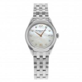 Baume & Mercier Clifton MOA10176 MOP Diamonds Steel Quartz Ladies Watch