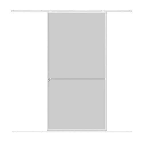 WIP Alu Insektenschutz Schiebetür 120x240cm weiß Fliegengittertür