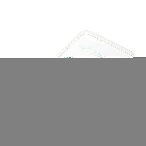 iPhone 7 Plus Silikon Hülle,iPhone 7 Plus Case,iPhone 7 Plus Schutz - Felfy Ultra Dünnen Weiche Gel Elegant TPU Back Case Cover Schutz Zurück Handy Tasche Etui Hülle Schutzhülle Crystal Clear TPU Case Gelb Grün Feder