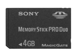 Sony - Memory Stick Pro Duo Speicherkarte (4GB) (Memory Stick Pro Duo Mit Adapter)