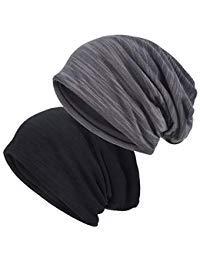 EINSKEY Mützen Herren Damen Sommer Dünn Slouch Long Beanie Mütze Skull Cap Kopfbedeckung für Chemo, Sport, Schlaf, Haarausfall