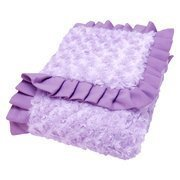 Lilac And Plum Swirl Velour Ruffle Trimmed Receiving